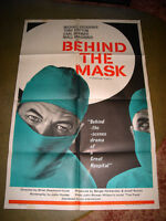 1958 UK HOSPITAL DOCTOR MOVIE THEATRE POSTER MICHAEL REDGRAVE