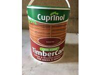 Cuprinol one coat timber care 2 x 5 litres plus 1 half used