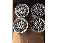 "Bmw mv1 18"" staggered alloy wheels refurbished"