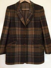 Tartan jacket - size 16UK