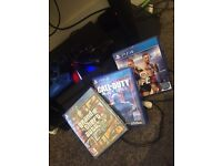 PS4 and TWO controllers WITH GAMES!!(optional) QUICK SALE