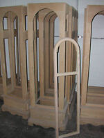 Solid Oak Clock or Curio Cabinets to Finish