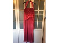 JS Collections Long Red Dress Size 14