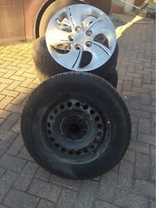 Snow tires and rims, 205/65R15 London Ontario image 1