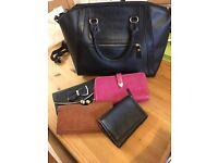 Hand bag and 4 purses