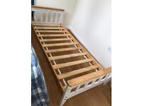 Single bed compact wood frame