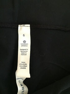LULULEMON BELT IT OUT PANT BLACK SIZE 6 NWT West Island Greater Montréal image 5