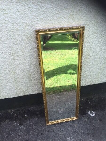 Gold framed mirror FREE DELIVERY THIS FRIDAY