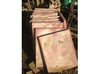 Slab tiles x18 never been used