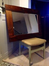 Good sized quality mirror, rustic frame