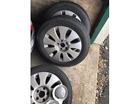 Audi alloy wheels with good tyres
