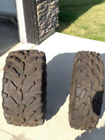 Barely used Quad Tires