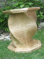 Stunning geometrical table base or side table !!