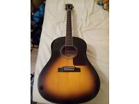 Epiphone Aj 220s acoustic guitar with BAG