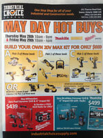 INDUSTRIAL CHOICE SUPPLY **MAY DAY HOT BUYS**POWER TOOL SALE**