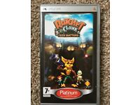 Sony PSP game Ratchet and Clank Size Matters.