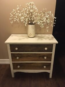 Refinished Solid Wood Antique Dresser