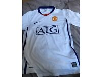 Manchester united nike t-shirt kit size mens small