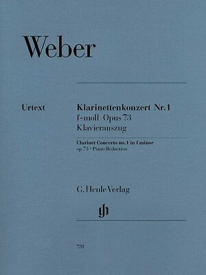 Carl Maria von Weber Clarinet Concerto No. 1 in F minor Op. 73 Sheet M 051480731 Carl Maria Von Weber Clarinet