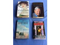 A collection of 4 signed 1st edition hardback books