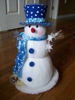 multi color lit snowman