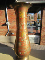 BRASS INDIAN VASE 14 INCHES