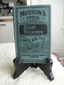 OLD ['38] EDITION MUSSON'S READY RECKONER FORM & LOG BOOK