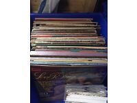 Job lot of over 1,100 vinyls, 190 albums and 550 sleeved singles, 460 non sleeved singles for sale