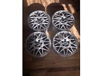 """15"""" 5x100 Genuine Mk3 golf vr6 BBS refurbished alloys mk1 mk2 polo Ibiza fabia fox alloy wheels"""