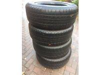 4x Mitsubishi l200 tyres, good year 255 60R 18