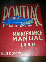 1950 Pontiac Series 2500 - 2700 Maintenance Manual