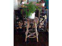 Plant stand/ wicker stool