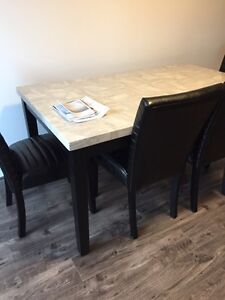 Grey Laquered Marble Dining Table