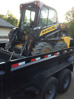 Skid steer service, yard leveling for drainage, concrete work