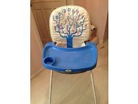 Highchair kids childs seat feeding high low chair boy girl