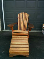 Adirondack Chair and foot stool