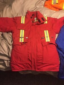 Small red and Medium blue FR jackets Prince George British Columbia image 2