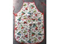 Cath Kidston rare chicken pattern apron. Wax coated. One size