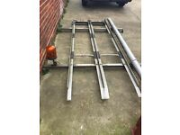 Transit Roof Rack ladders pipe Beacon Light included