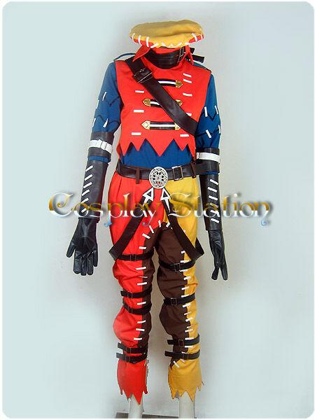 Hack // G.U Azure Kite / Tri Edge Cosplay Costume_cos0210