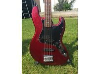 Overwater PF Bass Guitar - Metallic Candy Apple Red - British Bass company!!