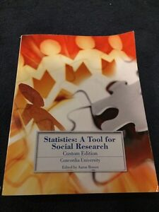 Statistics a tool for social research textbook Concordia  West Island Greater Montréal image 1