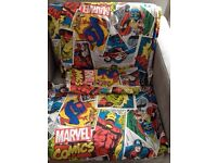Marvel comics double duvet set