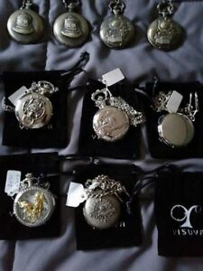 Pocket Watches, brand new,$50.00 for lot of 9. PRICE REDUCED!