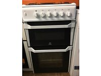 Fully gas cooker indesit 50cm double door separate grill and oven for sale