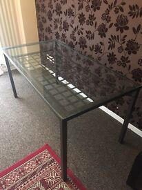 Glass dining table - REDUCED !!