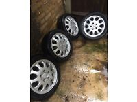 Mercedes 15inch alloy wheels with good tyres ( 195/50r15)