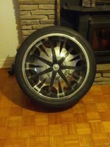 3 RIMS -22 Inch Verde Wheels V49 Sinister - 22x9.5 Chrome Wheels