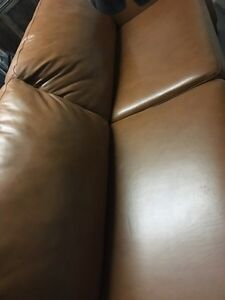 Perfect condition classic leather couch
