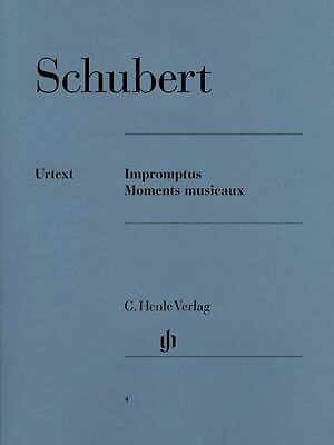 Schubert Impromptus and Moments Musicaux Sheet Music Piano Solo NEW 051480004 ()
